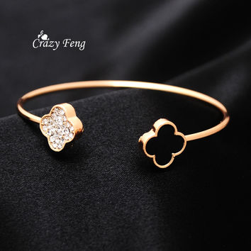 Brand Designer  Gold Plated & Silver Plated Elegant Bracelets Bangles For Women High Quality Party Jewelry pulseira feminina