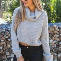 Open Fire Knit Grey - Tops - Clothes