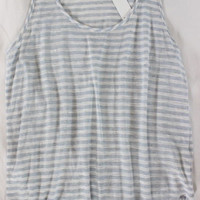 """~~~ SO DARN MUST-HAVE ~~~ J.BRAND NWT STRIPED """"BURN OUT"""" KNIT TANK TOP ~~~ S"""