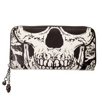 Black Skull Face Wallet Glow in the Dark