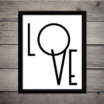 Love - Valentine's Day, Romantic Print, Instant Download, Digital Art, Printable, Home Decor, Minimalist, Modern, Poster, Sign, Downloadable