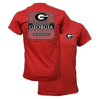 Southern Couture University of Georgia Bulldogs Classic Preppy Girlie Bright T Shirt