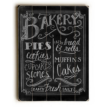 Bakery by Artist Robin Frost Wood Sign