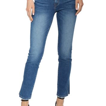 Flying Monkey Slit Hem Ankle Straight Jeans