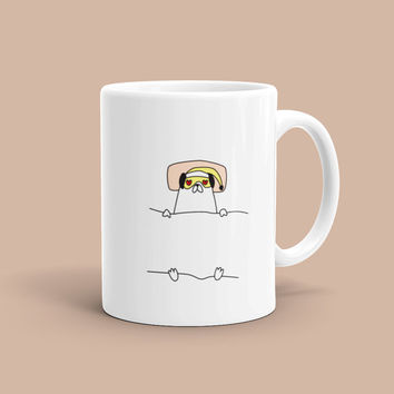 Funny Coffee Mug For Boyfriend Girlfriend Wife Husband Pug Dog Animal Love Fun Anniversary Birthday Bday Gifts Quote Typography Mugs Her Him