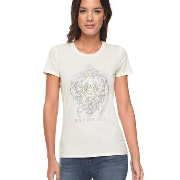 Logo Juicy Brooch Short Sleeve Tee by Juicy Couture,