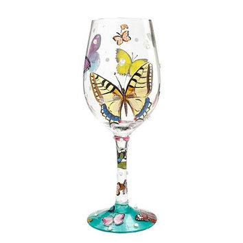 "Lolita Wine Glass ""Butterfly Wishes"""