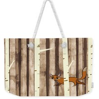 Fox And Bird Weekender Tote Bag for Sale by Susan Eileen Evans