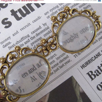Vintage Magnifying glasses on a retractable string