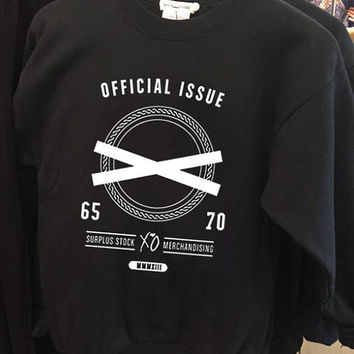 official issue xo the weeknd crew neck sweatshirt pullover long sleeved
