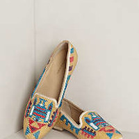Davy Beaded Loafers by Antik Batik Cream