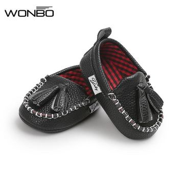 Romirus Tassel Moccasin Slippers Tassels Baby Moccasin Newborn Babies Shoes Pu Leather Prewalkers Boots