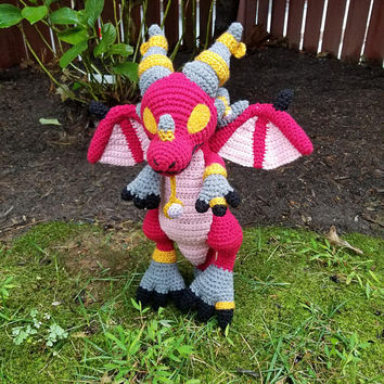 World of Warcraft Inspired: Lil Alexstrasza, Dragon Whelpling Amigurumi (Crochet Plushie/Plush Toy) - MADE TO ORDER