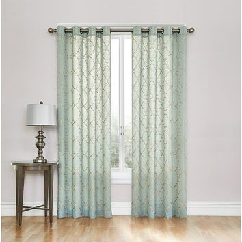 SONOMA life + style Dune Embroidered Sheer Curtain - 50'' x 84''