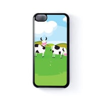 Cows Black Hard Plastic Case for iPhone 5C by Nick Greenaway