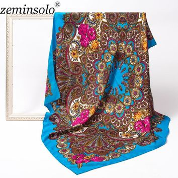 Fashion Scarves Shawls For Women Scarf Luxury Brand Large Square Pashmina Bandana Winter Cotton Hijab Wrap Scarves 120*120cm
