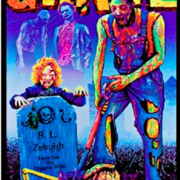 Zombie Grave Digger Black Light Poster 23x35