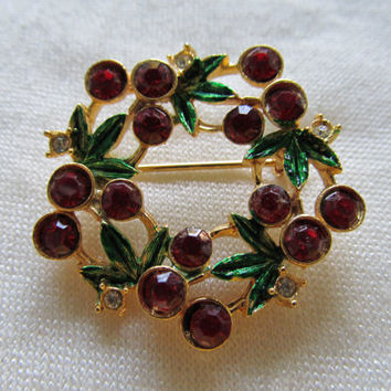 ST. LABRE Christmas Wreath Pin