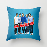 ONE DIRECTION Throw Pillow by dan ron eli