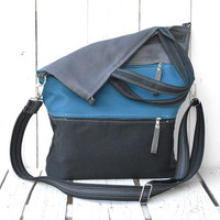 Canvas totes / Messenger bag / crossbody bag / Foldover bag / double zipper pockets