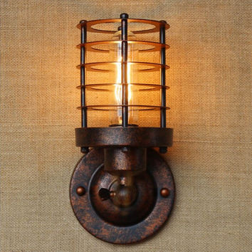 America Retro Vintage Wall Light Beside Lamp Loft Industrial Wall Sconce Stair Light Lamparas De Pared