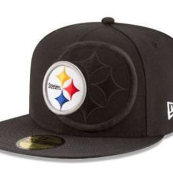Pittsburgh Steelers Hat Fitted Men's 59FIFTY Official Sideline Black New Era