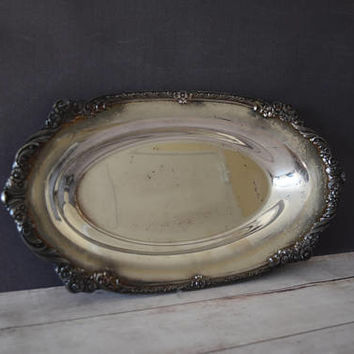 Heritage Silverplate Tray/ 1847 Tray/ Rogers Bros Tray/ Bon Bon Tray/ Vanity Tray/ Serving Tray/ Decorative Tray/ Vintage Tray