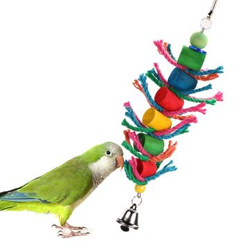 Kimhome's Colorful Bird Chew Toy is Great For Everything From Parrots to Budgies