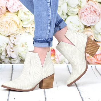 Not Rated: Tarim Block Heel Bootie {Cream}