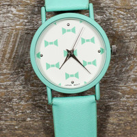 WEB EXCLUSIVE: Bow Tie Girl Watch in Mint