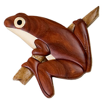 Tree Frog Wooden Magnet