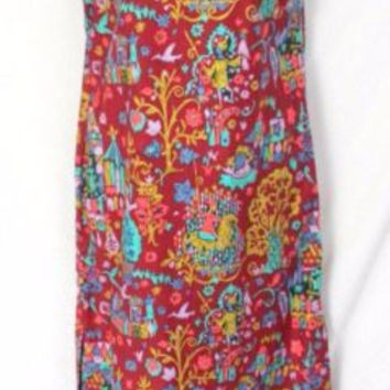 House of MuuMuus Waikiki Dress  M size Long Multi Colored Floral Vacation Beach