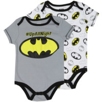 Batman Newborn Baby's Batman 2-Pack Creeper Set