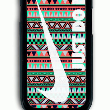 Samsung Galaxy S3 Case - Rubber (TPU) Cover with Nike Just Do It on Aztec Rubber Case Design