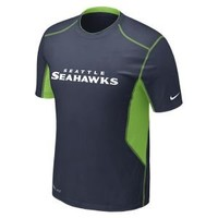 Nike Store. Nike Pro Combat Hypercool 2.0 Fitted Short-Sleeve (NFL Seahawks) Men's Shirt
