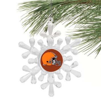 Cleveland Browns Snowflake Ornament