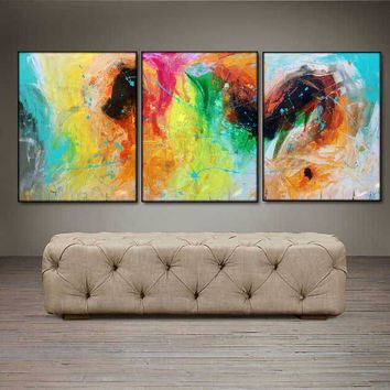 """'April 003'  - 48"""" X 20"""" Original Abstract  Art.  Free-shipping within USA & 30 day return."""