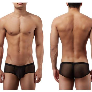 Male Power PAK885 Euro Male Mesh Micro Mini Pouch Short Color Black
