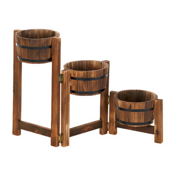 Country Barrels Planter Trio
