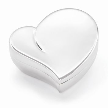 Silver-plated Heart Jewelry Box - Engravable Personalized Gift Item