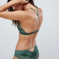 New Look Satin And Lace Bralet at asos.com