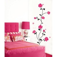 HM ART -Red flower - suitable for the living room and bedroom decorative wall stickers: Amazon.ca: Home & Kitchen