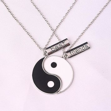 Ying Yang Best Friends Necklace