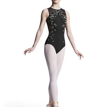Printed Mesh Back Tank Leotard L8165 by Bloch