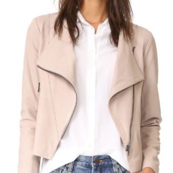 Collin Soft Drape Front Moto Jacket