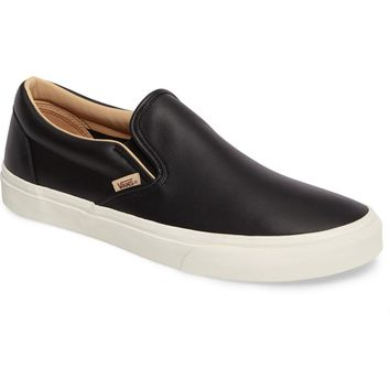 Vans Lux Leather Classic Slip-On Sneaker (Men) | Nordstrom