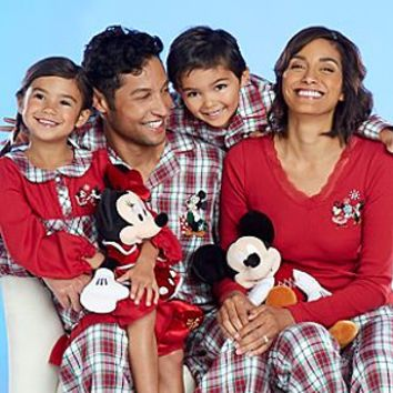 Mickey and Minnie Mouse Holiday Family Sleepwear Collection