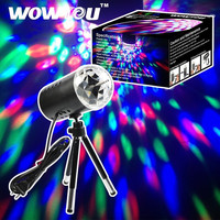 WOWTOU(TM) Disco Stage Lighting Magic LED RGB Crystal RAINBOW COLOR Effect Party Pub light with Tripod (Size: 15 cm x 72 cm x 72 cm, Color: Multicolor) = 1946305796