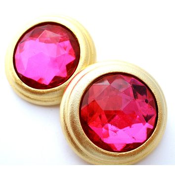 Maeve Carr Earrings with Pink Rhinestones
