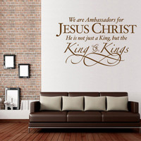 Christian Wall Decal. Ambassadors for Jesus Christ - CODE 093